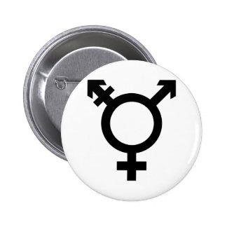 Black Transgender Symbol 2 Inch Round Button