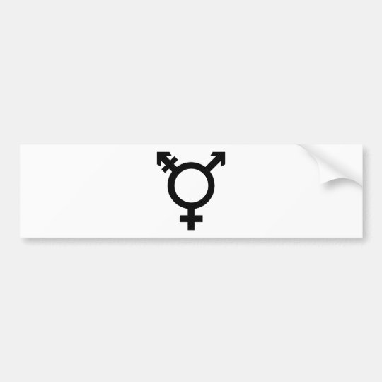 Black Transgender Symbol Bumper Sticker
