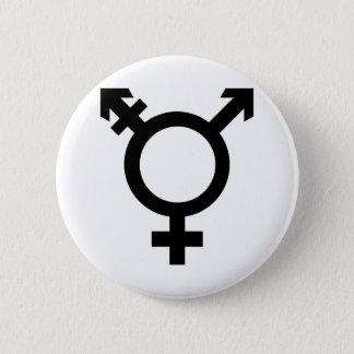 Black Transgender Symbol Button