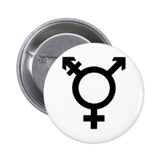 Black Transgender Symbol Button