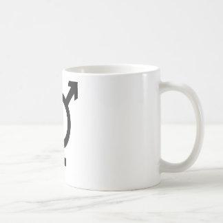 Black Transgender Symbol Classic White Coffee Mug