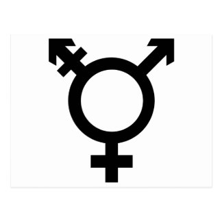 Black Transgender Symbol Postcard