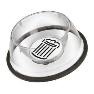 Black Trash Can Symbol Bowl