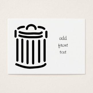 Black Trash Can Symbol Business Card