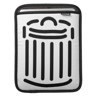 Black Trash Can Symbol iPad Sleeves