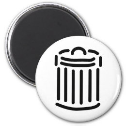 Black Trash Can Symbol Magnet