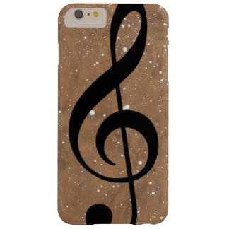 black-treble-clef music-note barely there iPhone 6 plus case