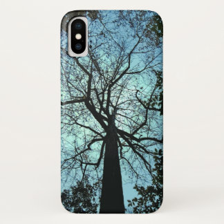 Black Tree Branches Blue Sky iPhone X Case