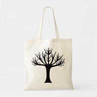 black tree budget tote bag