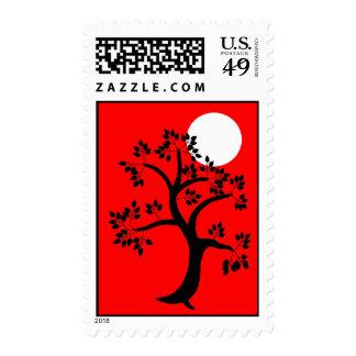 Black Tree Moon Postage