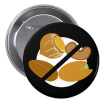 Black Tree Nut Free Nut Allergy Kids Button