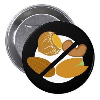 Black Tree Nut Free Nut Allergy Kids Button