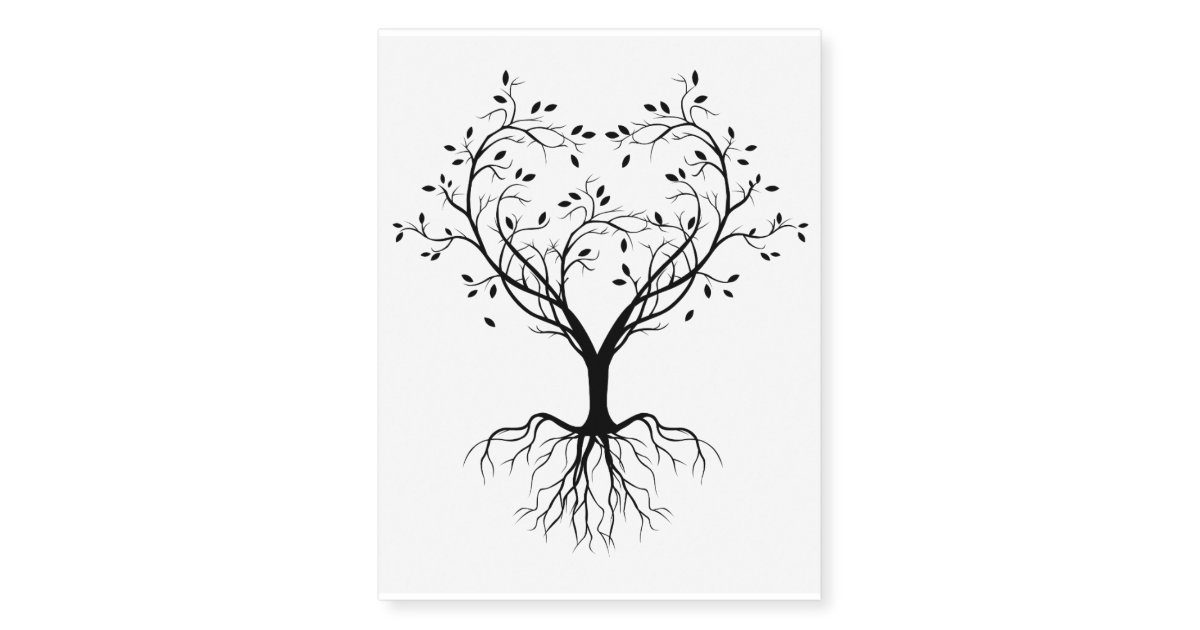 Black Tree Of Life Heart Temporary Tattoos Zazzle Com Tree of life a different look. black tree of life heart temporary tattoos zazzle com