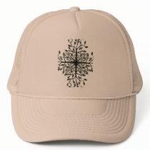 Black Tree Pattern Trucker Hat