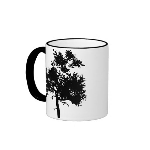 Black Tree Ringer Mug