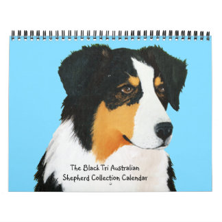 Black Tri Australian Shepherd Collection Calendar