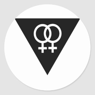 Black Triangle Classic Round Sticker