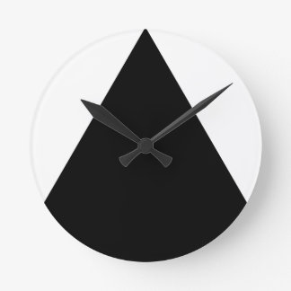 Black Triangle Geometric Round Clock
