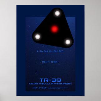 Black Triangle TR-3B UFO Poster