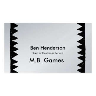 Black triangles in a row at each side text middle business card