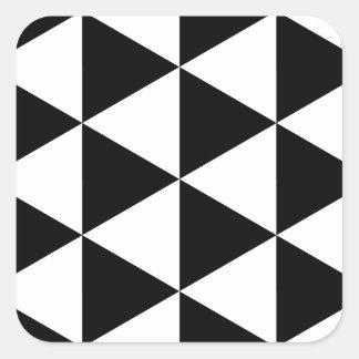 Black Triangles Square Sticker