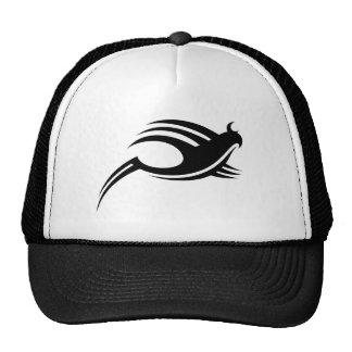 Black Tribal Abstract Bird 2 Trucker Hat
