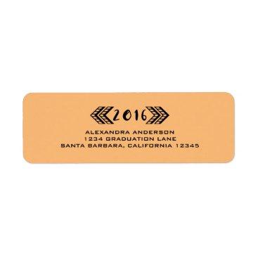 Aztec Themed Black Tribal Aztec Graduation Address Labels