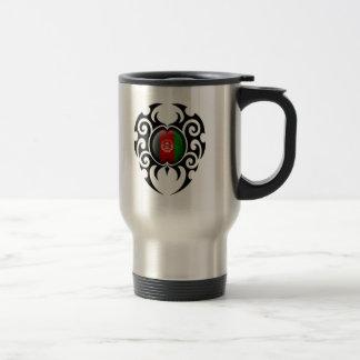 Black Tribal Cracked Afghan Flag Coffee Mug