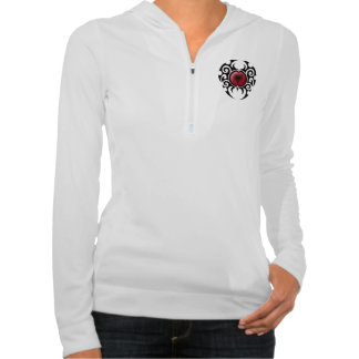 Black Tribal Cracked Albanian Flag Hooded Pullovers