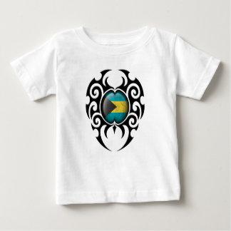 Black Tribal Cracked Bahamas Flag Infant T-shirt