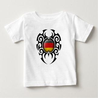 Black Tribal Cracked German Flag Shirt