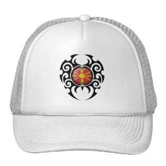 Black Tribal Cracked Macedonian Flag Trucker Hat