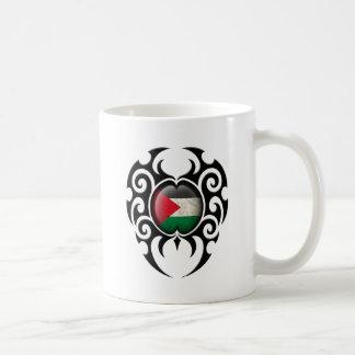 Black Tribal Cracked Palestinian Flag Mugs