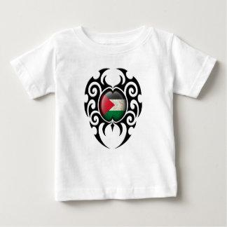 Black Tribal Cracked Palestinian Flag Tshirt
