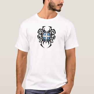 Black Tribal Cracked Quebec Flag T-Shirt