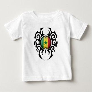 Black Tribal Cracked Senegal Flag Shirt