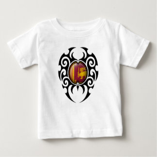 Black Tribal Cracked Sri Lankan Flag Infant T-shirt