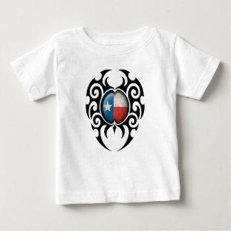 Black Tribal Cracked Texas Flag T Shirt
