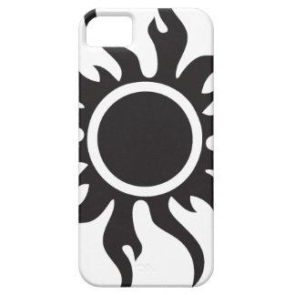 Black Tribal Sun iPhone 5 Cases