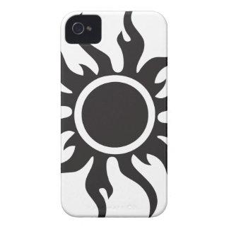 Black Tribal Sun iPhone 4 Cover