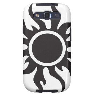 Black Tribal Sun Samsung Galaxy S3 Cover