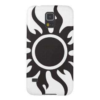 Black Tribal Sun Galaxy S5 Case