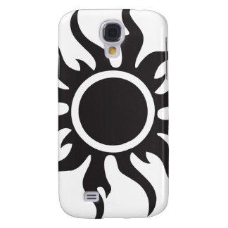 Black Tribal Sun Galaxy S4 Cover
