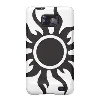 Black Tribal Sun Samsung Galaxy S2 Covers
