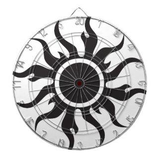 Black Tribal Sun Dartboard