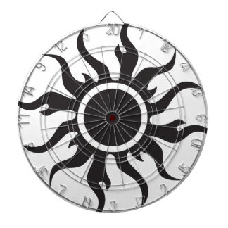 Black Tribal Sun Dartboard With Darts