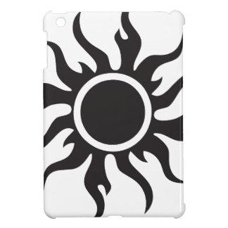 Black Tribal Sun iPad Mini Cover