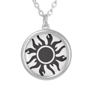 Black Tribal Sun Pendants