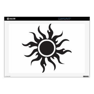 Black Tribal Sun Skin For Laptop