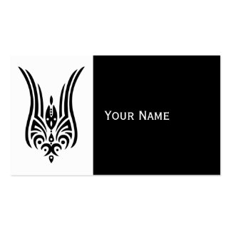 BLACK Tribal Tattoo - tulip + your ideas Double-Sided Standard Business Cards (Pack Of 100)
